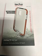 AUTHENTIC TECH21 IMPACTOLOGY IMPACT MESH FOR SAMSUNG GALAXY S5 SPORT - CLEAR