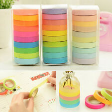 10 x Washi Tape Masking Tape DIY Scrapbook Decorative Paper Adhesive Sticker