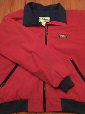 VTG L.L. Bean Jacket Coat - Large - Red - Fleece North USA LL