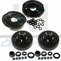 """(2) Trailer 5 on 5 Hub Drum Kits + 10""""X2-1/4"""" Electric brakes For 3500 lbs axle"""