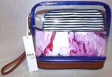 Hang Accessories Millie 3-in-1 Make-Up Bag - Camel Trim Stripe & Marble
