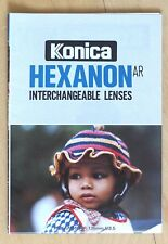 Konica Hexanon AR Interchangeable Lenses booklet | UC 28mm, UC 400mm, 57mm 1.2