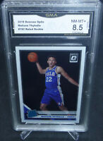 2019-20 Donruss Optic Matisse Thybulle Rookie Card #192 GMA Graded NM-MT+ 8.5