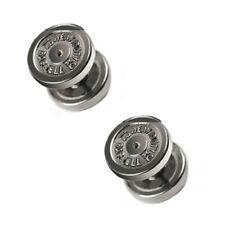 Piercing Ohrstecker Fake Plug 12mm Hantel 2er Set 316L Chirurgenstahl