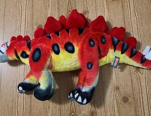 "Melissa & Doug STEGOSAURUS Large Dinosaur Stuffed Plush Toy Lifelike Animal 32"""