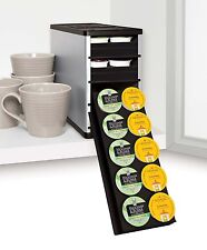 CoffeeStack 40 K Cup & Coffee Pod Storage Cabinets and Trays Organizer, Silver