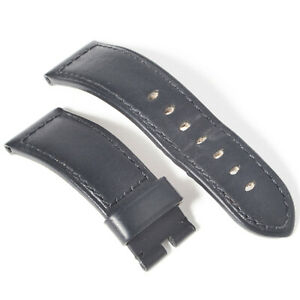 Authentic Officine Panerai Black Calf Leather 24mm to 22mm Wide Watch Strap