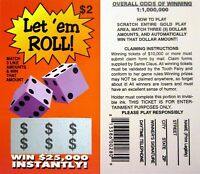 ( 10 ) fake lotto ticket - great to put inside cards