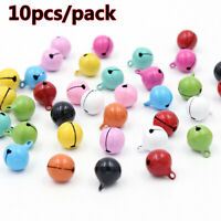 HOT 10X Beautiful Iron Metal Beads Jingle Bells Christmas Decoration Xmas Tree