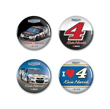 Kevin Harvick 2016 Wincraft #4 Busch Beer/Jimmy Johns Button Pins 4 Pack FREE