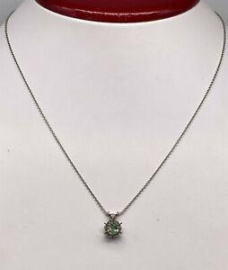 "Designer $3000 .50ct Natural Alexandrite 14k White Gold 16"" Necklace"