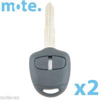 2 x Mitsubishi Challenger Pajero Triton Evo Remote Key Blank Shell/Case MIT8R