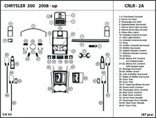 Carbon Fiber Dash Trim Kit for CHRYSLER 300 2008-2010 Interior Overlay Dashboard