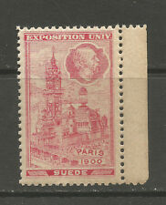 France/Paris 1900 Universal Exhibition SWEDEN Exhibit poster stamp/label