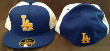 Los Angeles Dodgers MLB New Era 59FIFTY Fitted Hat Blue w/ Yellow LA Logo 7 1/2
