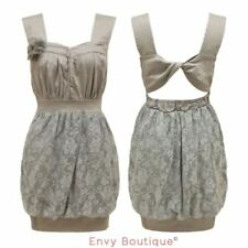 Lace Sleeveless Dresses for Women with Bubble Hem