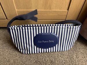Jojo Maman Bebe Pram Buggy Organiser Wipes Pocket New Stripe Bag Baby