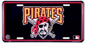 Pittsburgh Pirates Metal License Plate MLB Auto Tag Baseball Vanity Team Sign