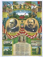 "PRESIDENTIAL CAMPAIGN POSTER ART ""OUR HOME DEFENDERS"" WILLIAM McKINLEY 1896"