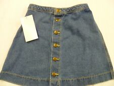 American Apparel Denim Button Skirt, Small