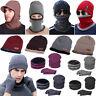 Men's Winter Beanie Hat+Scarf Set Gloves Warm Thermal Knitted Ski Cap Unisex lot