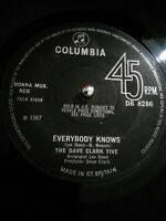 "The Dave Clark Five ‎– Everybody Knows Vinyl 7"" Single UK DB 8286 1967"