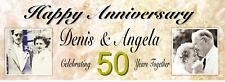 PERSONALISED 50th Golden Wedding Anniversary Banner - Add Names and Photos
