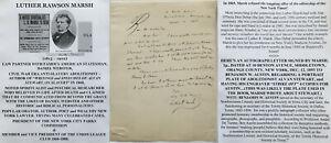 CIVIL WAR WEBSTER LAW PARTNER SPIRITUALIST SLAVERY ABOLITIONIST LETTER SIGNED !