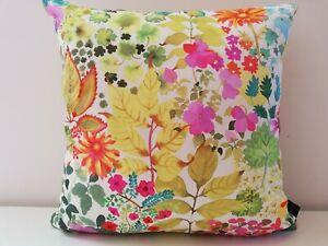 Liberty Arts Fresco Citrus Floral & Yellow Gold Velvet Fabric Cushion Cover