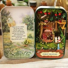 DIY Wooden Puzzle 3D Doll House Dollhouse Miniatures Kit for Box Theatre Trilogy