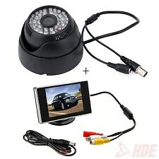"Wide Angle Surveillance Security Camera 48 LED CCTV + 3.5"" Color LCD Monitor"