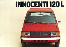 Depliant Brochure Innocenti 120 L 1977 Germania ORIGINALE
