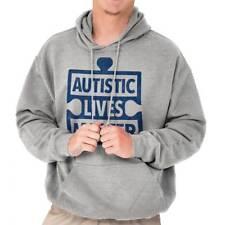 Autistic Lives Matter Support Autism Awareness Run Walk Hooded Sweatshirt