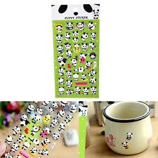 3D DIY Cute Panda Diary Album Scrapbooking Memo Pad Bubble Sticker Decoration TS