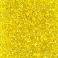 Miyuki Gotas Semilla Cuentas Plata Transparente Forrado Amarillo 3.4mm 25g Tubo (D93/11)