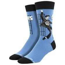 Socksmith Men's Crew Socks Elvis Presley Jailhouse Rock Blue Novelty Footwear
