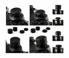 8x Soft Rubber Thumb Grips Black Thumbstick Joystick Extra High Ps4 Xbox One Wii