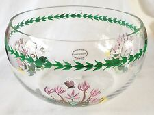 Portmeirion Botanic Garden Glass Salad Bowl - Cyclamen - 9 inches