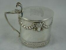 More details for superb, victorian sterling silver mustard pot, 1894