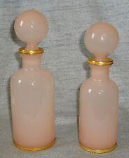 TWO VINTAGE PINK OPALINE PERFUME BOTTLES