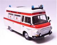 H0 BREKINA Barkas B 1000 Schnelle Medizinische Hilfe DRK Güstrow DDR # 30410