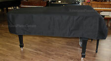 """Piano Cover for Pianos 4'6"""" to 4'8"""" BLACK MACKINTOSH - With Side Slits"""