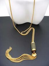 $68 Vince Camuto *Summer Warrior* Suede Pendant & Tassel Goldtone Chain Necklace