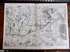 1769 Kent Andrews Dury Herbert Antique Map Original Rochester Medway Wrotham