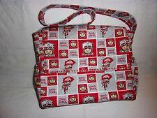 OSU Buckeye Print Home Made Diaper  Bag.