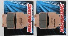 BRAKING 2 COPPIE PASTIGLIE FRENO ANTERIORI per APRILIA 750 DORSODURO 2010 2011