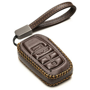 Vitodeco 4-Button Leather Smart Key Fob Case Cover for 2021-up Toyota Venza