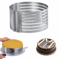 Home Layer Cake Slicer Adjustable Stainless Steel Mousse Mold Cut Kitchen Tools