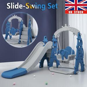 3in1 Baby Toddler Kids Playground Swing Slide Set Indoor Outdoor Climbing Frame