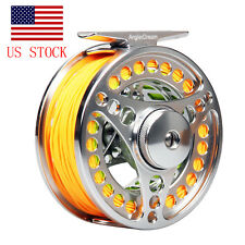 7/8Wt 95mm Fly Fishing Reel Fly Line Combo Wf8F Line Braided Backing Us Stock